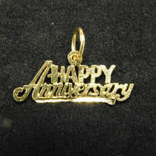 Load image into Gallery viewer, 14K Gold Charm'HappyAnniversary'