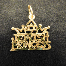 Load image into Gallery viewer, 14K Gold Charm' Jewish Princess'