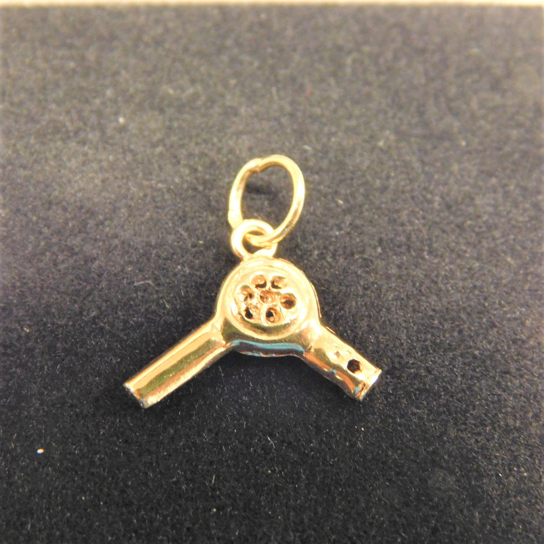 14K Gold Charm 'Blow Dryer'