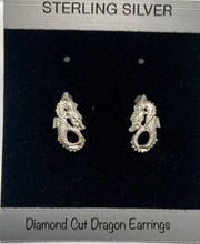Load image into Gallery viewer, Sterling Silver Dragon Post Earrings