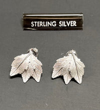 Load image into Gallery viewer, Sterling Silver Three Leaf Post Earrings.