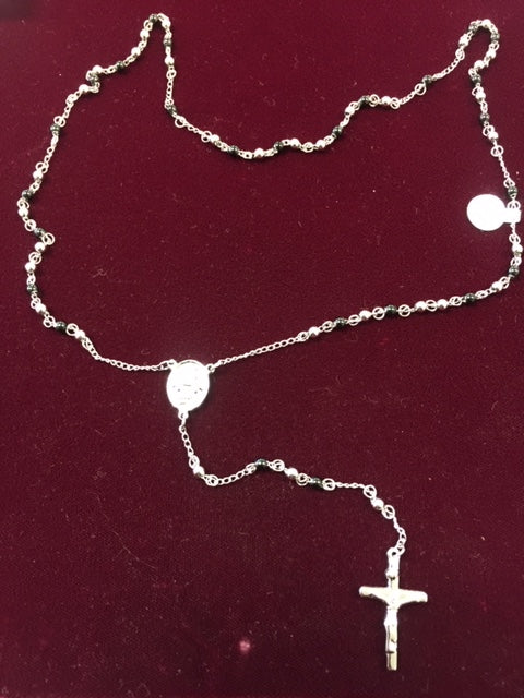Religious Stainless Steel Two Tone Rosary