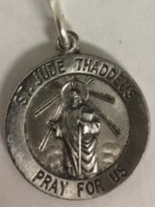 Saint Jude Sterling Silver Medal