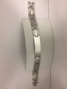 Men's Identity Bracelet Stainless Steel  8 and a half inches.