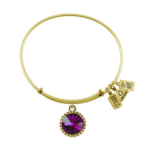 Wind and Fire February Birthstone Bracelet