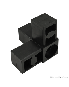 3-Way Corner Connector with Castor or Spacer Receptacle