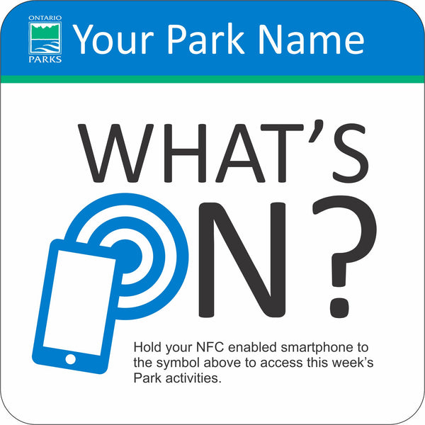 NFC Sign - What's On?