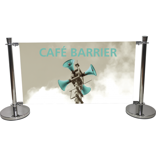 Cafe Barrier Graphic Panel
