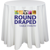 Round Premium Dye Sublimation Table Throw