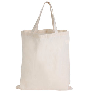 100 Units x Calico Short Handle Bag