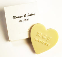 Load image into Gallery viewer, wedding_favors_white_chocs_heart_plain_box_lightgold