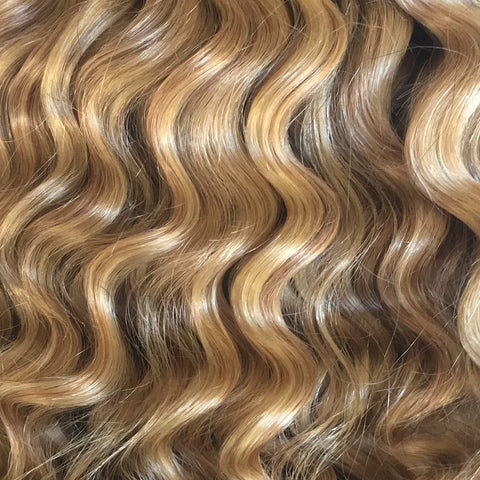 #18/22 Dirty Blonde Highlights - Curly