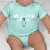 Wild Hair Don't Care Infant Jersey One-Piece: Aqua