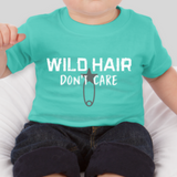 Wild Hair Don't Care Toddler Jersey T-Shirt: Teal