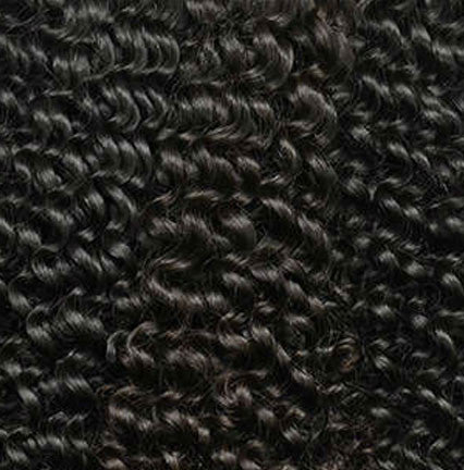 1 Jet Black Clip In Curly Hair Extensions Kinky Bella