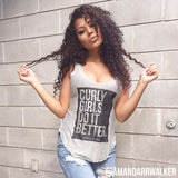 Curly Girls Do It Better Tank Top