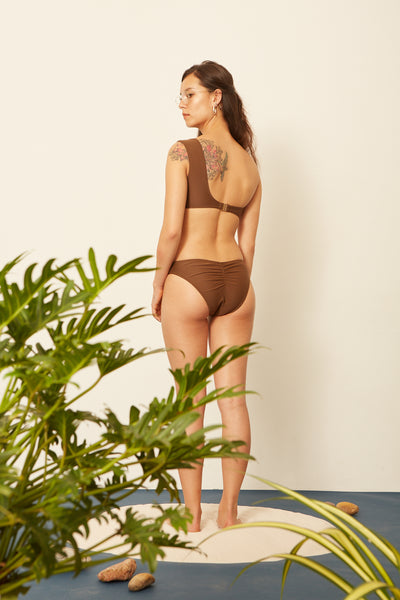Choco One-Shoulder Bikini