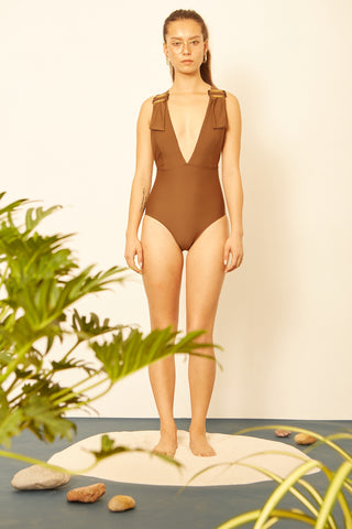 Choco Deep Plunge One-piece
