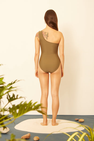 Moss One Shoulder One-piece