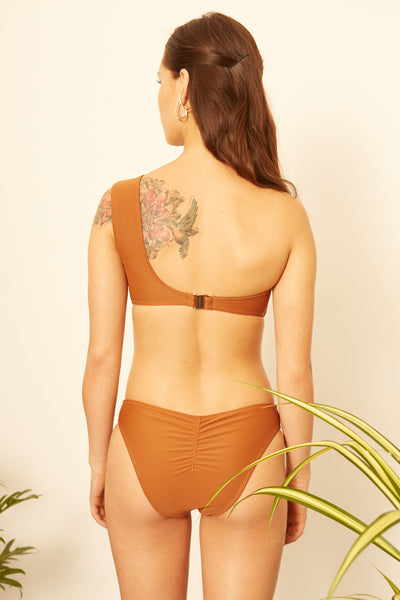 Caramel One-Shoulder Bikini