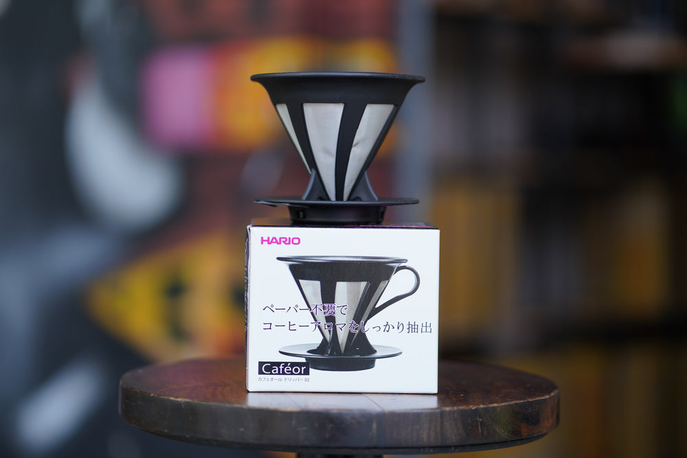 Load image into Gallery viewer, Hario Cafeor Stainless Steel Mesh V60 Dripper