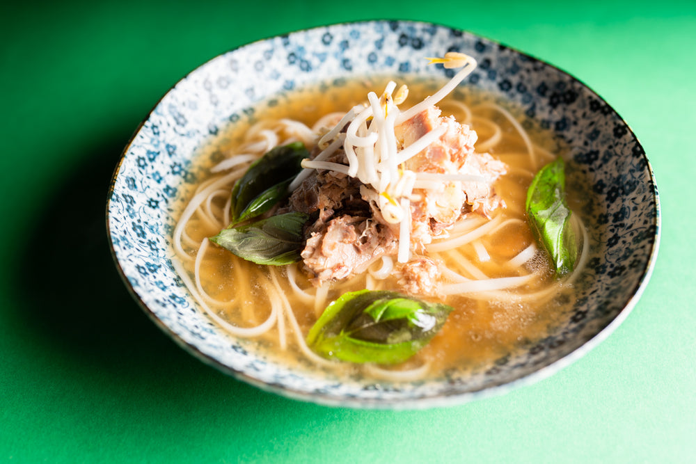 Vietnamese Beef Pho with Rice Noodles