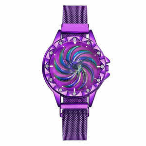 Magnet Buckle Rotating Watch - Gloryset
