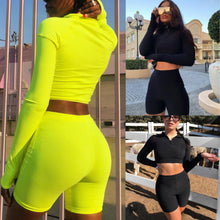 Load image into Gallery viewer, 2Pcs Solid Sports Clothes Set - Gloryset