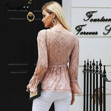 Load image into Gallery viewer, Embroidery Pink Peplum Blouse - Gloryset