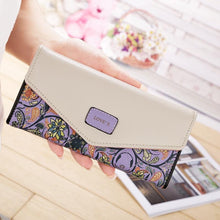 Load image into Gallery viewer, PU Leather Colorful Flowers Purse