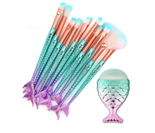 Load image into Gallery viewer, 11PCS Pro Mermaid Makeup Brushes - Gloryset