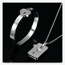 Load image into Gallery viewer, Couple Love Heart Lock Bracelet