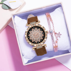 Luxury Leather Strap Watch - Gloryset