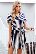 Load image into Gallery viewer, Elegant Striped Dress - Gloryset