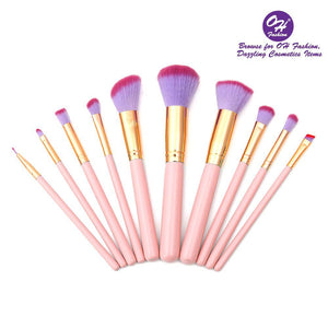 Fashion Makeup Brushes Mermaid Shell Kaia 11 - Gloryset
