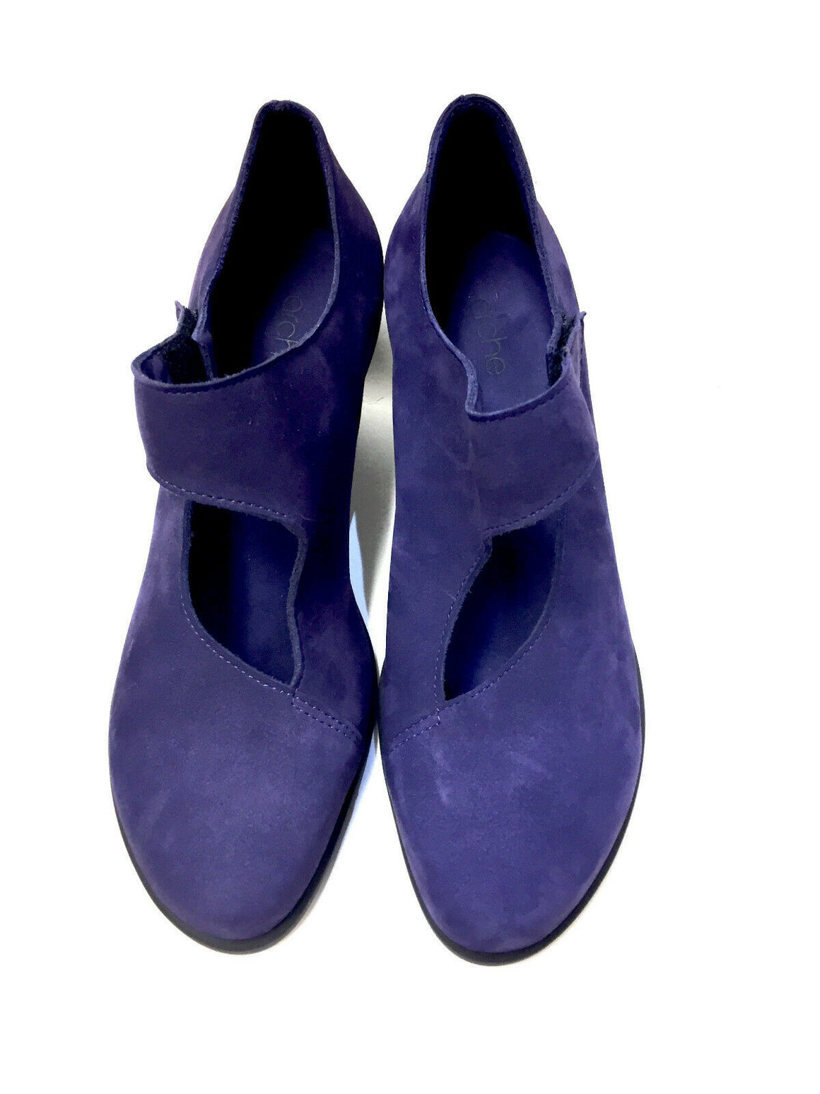 New ARCHE Purple Suede Mary Jane Low-Heel Pumps Shoes Sz39