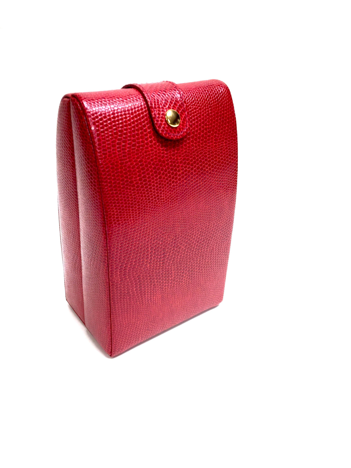 bisbiz.com WOLF DESIGNS Red Lizard-Print Faux Leather Jewelry Travel Case - Bis Luxury Resale