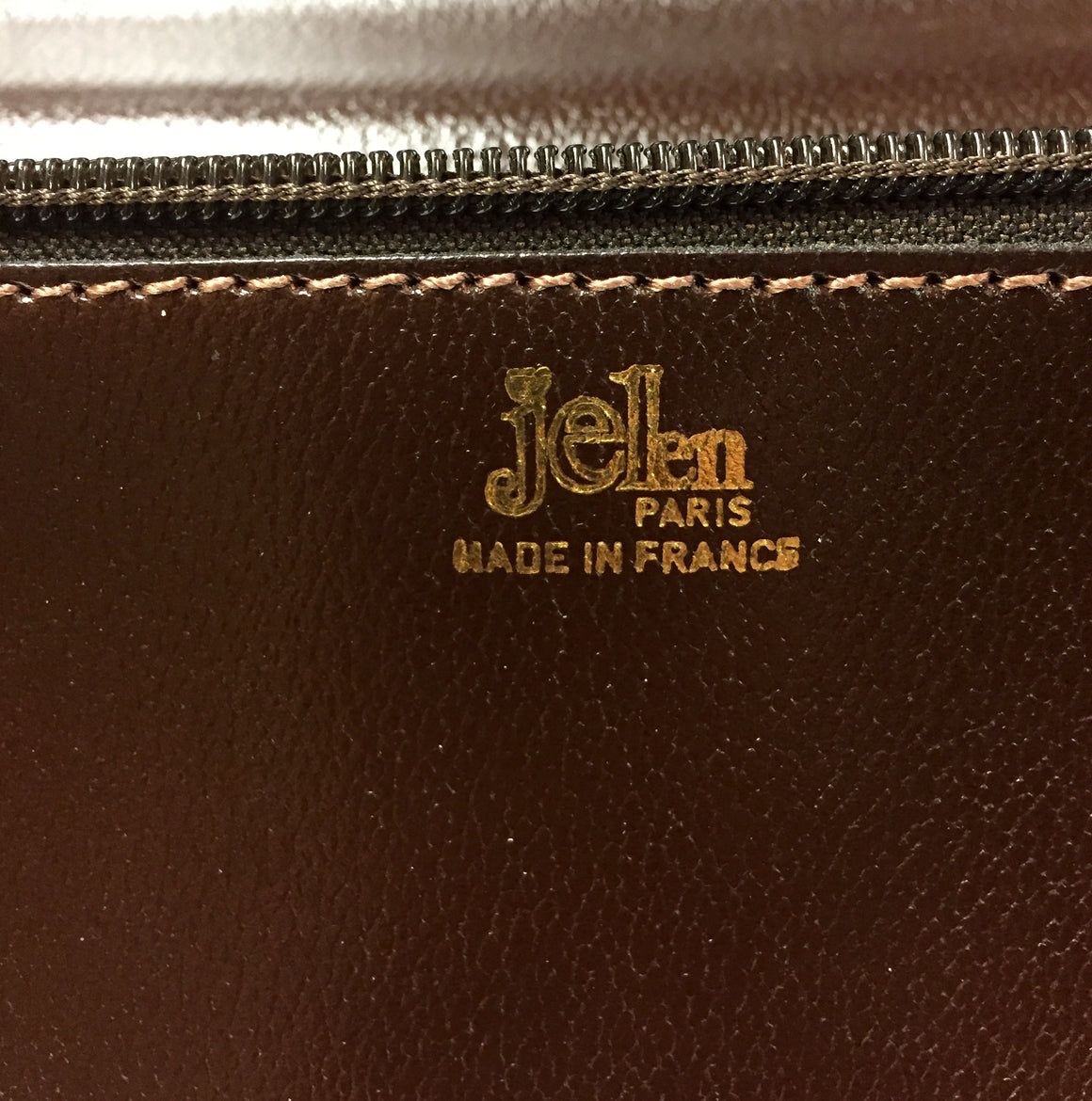 JELEN  New - Vintage  Brown Textured Leather Combination Lock Soft Briefcase