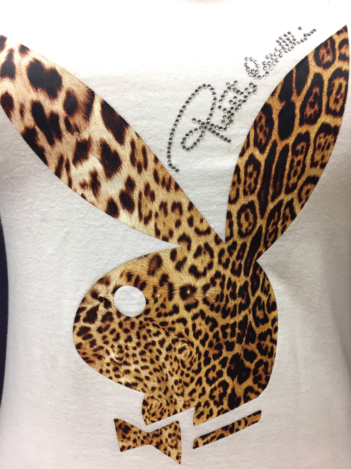 ROBERTO CAVALLI for PLAYBOY Limited Edition White Cotton-Blend BBUNNY Tank Top Sz IT42/US S/M