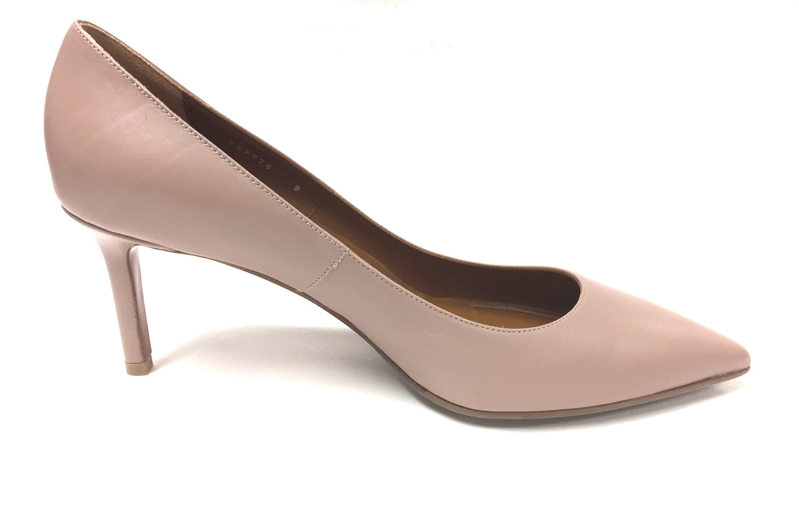 AQUATALIA New Taupe Leather Pointed-Toes Weatherproof MELINA Heel Pumps Shoes Size: 9M