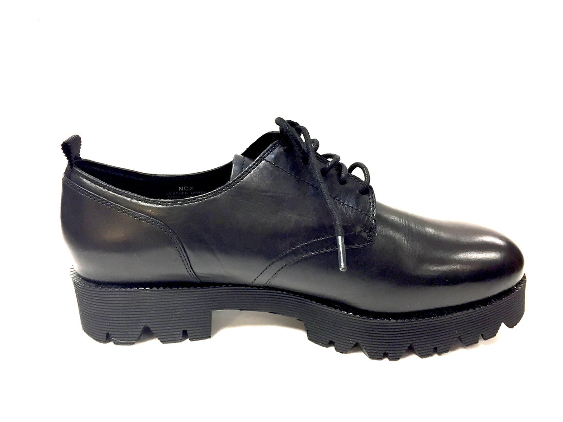 ASH New  Black Leather Grooved Rubber Platform/Soles Winter Lace-Up Oxford Shoes   Size: EU 40 / US 10