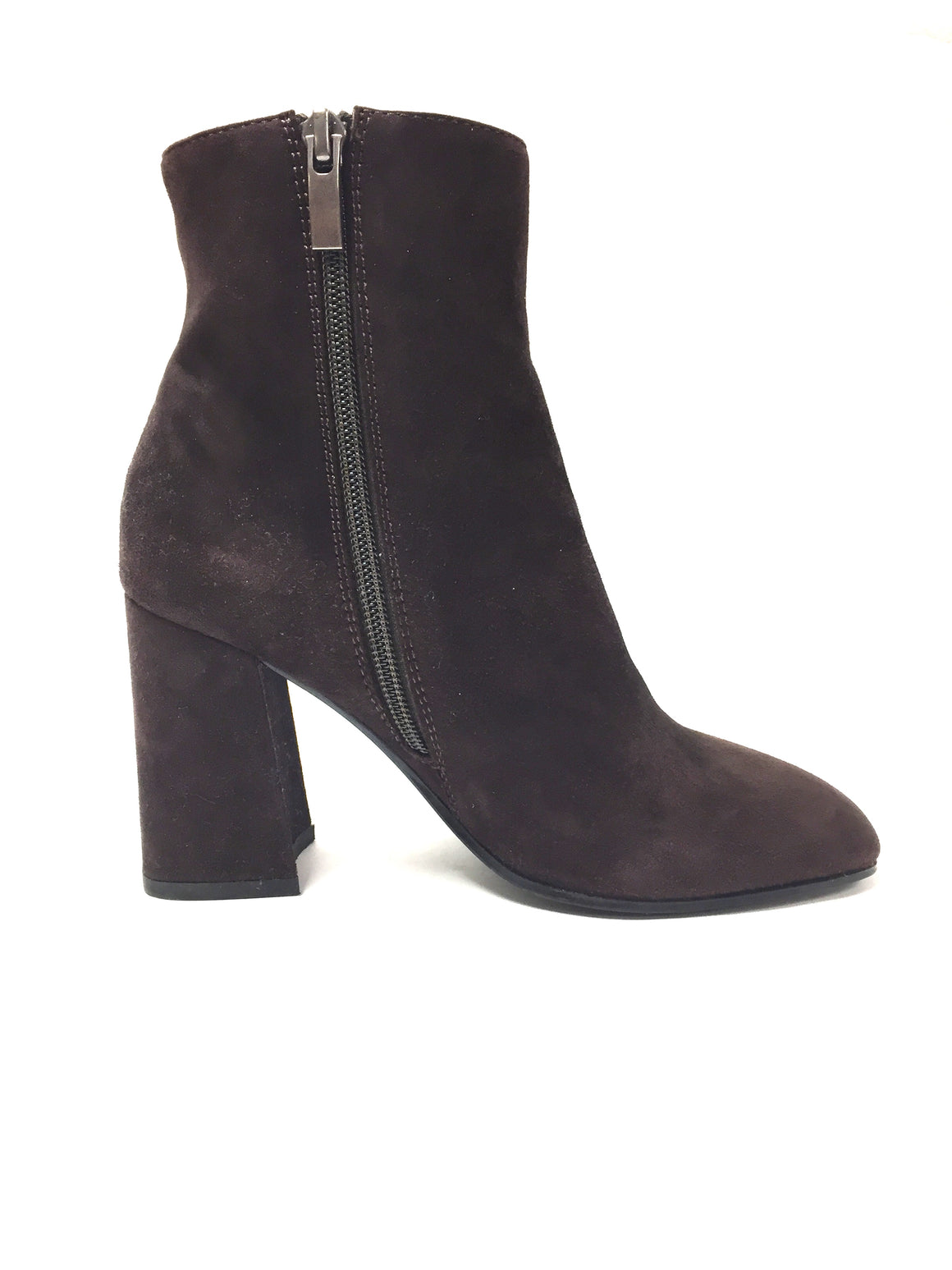 BRUNO PREMI Brown Suede Block-Heel Ankle Boots Booties Size: EU 36 / US 6