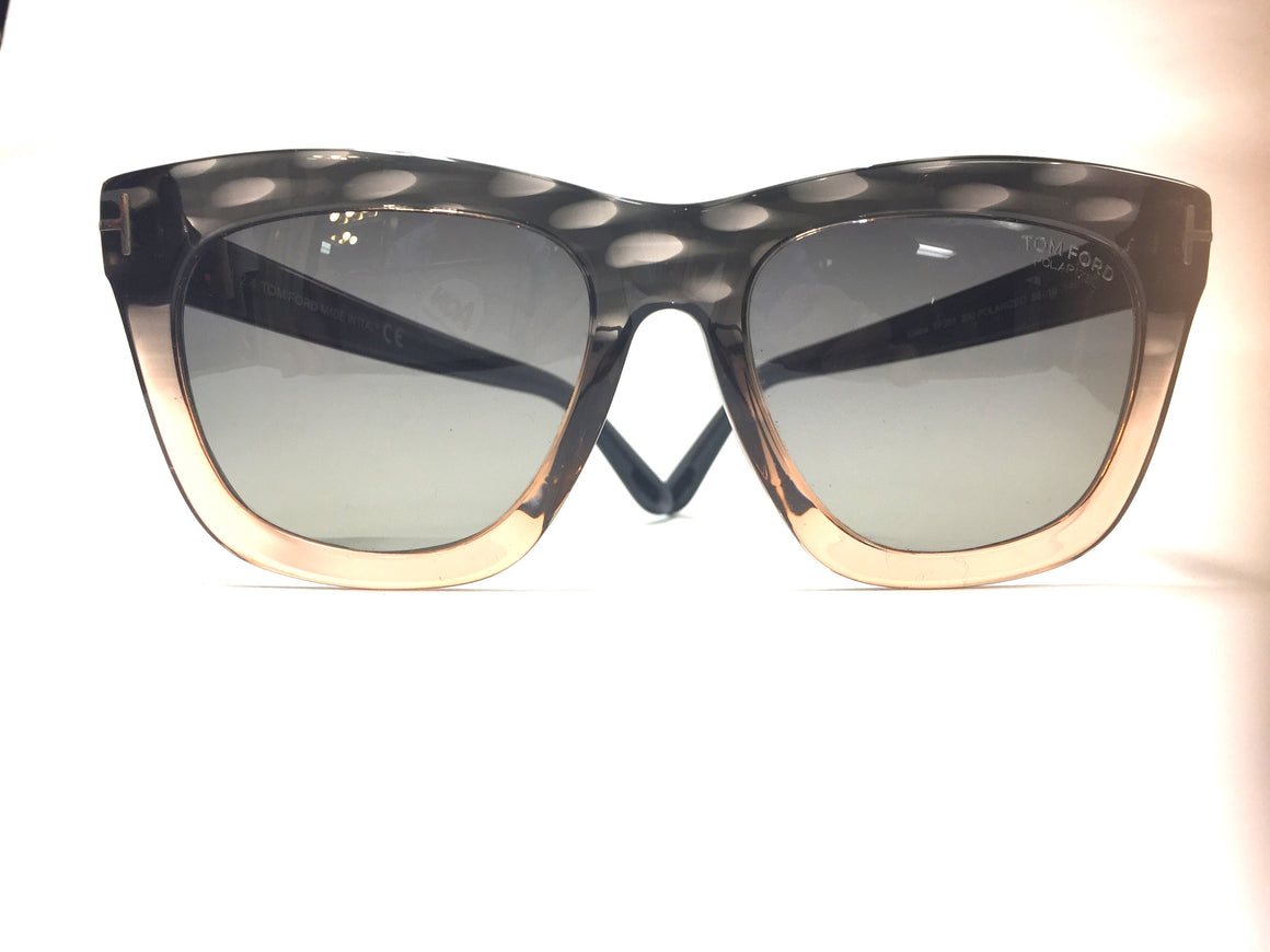 "TOM FORD  Gray/Rose Frame Gray Polarized Lenses  ""CELINA"" Sunglasses  Style FT361 20D"