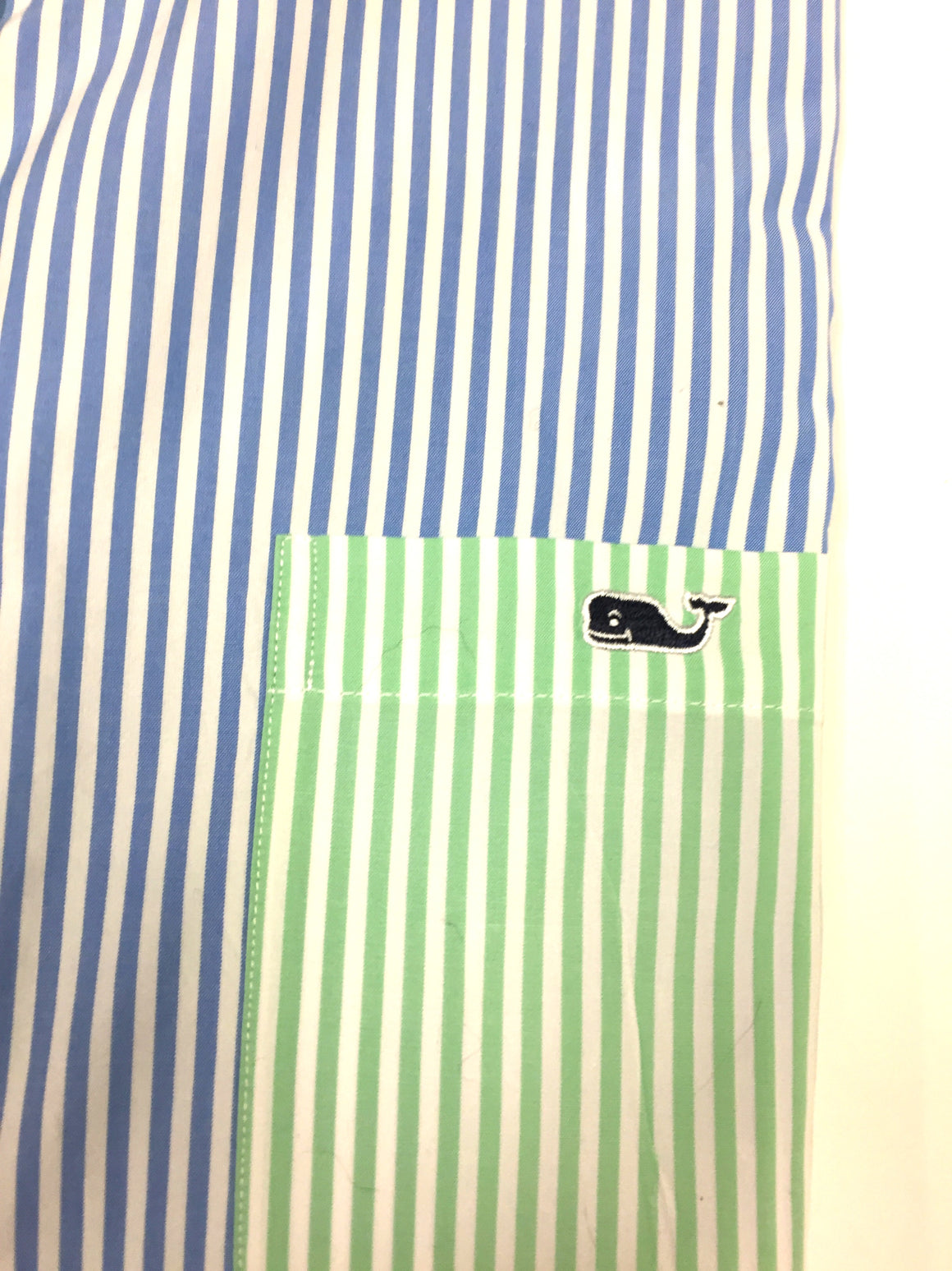 VINEYARD VINES White/Rainbow Stripe100% Cotton 'TUCKER' Men's Shirt SzXL