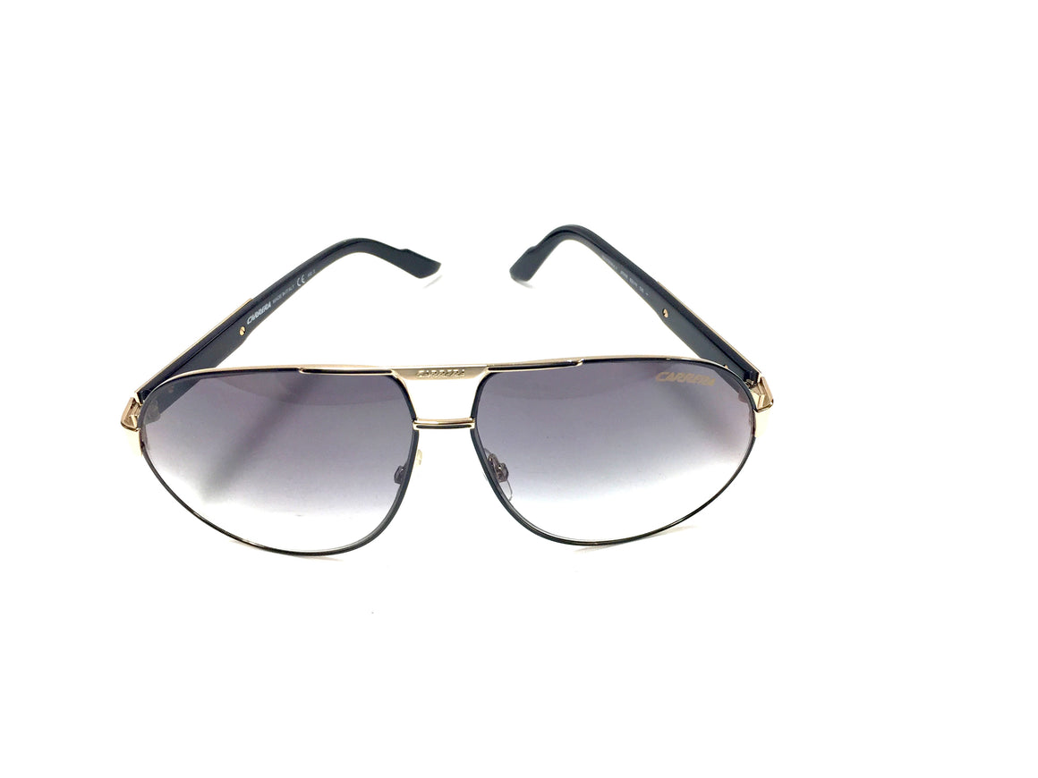 CARRERA Black & Gold Metal Frame 'DAYTONA I' Aviator Sunglasses Style J7IYR