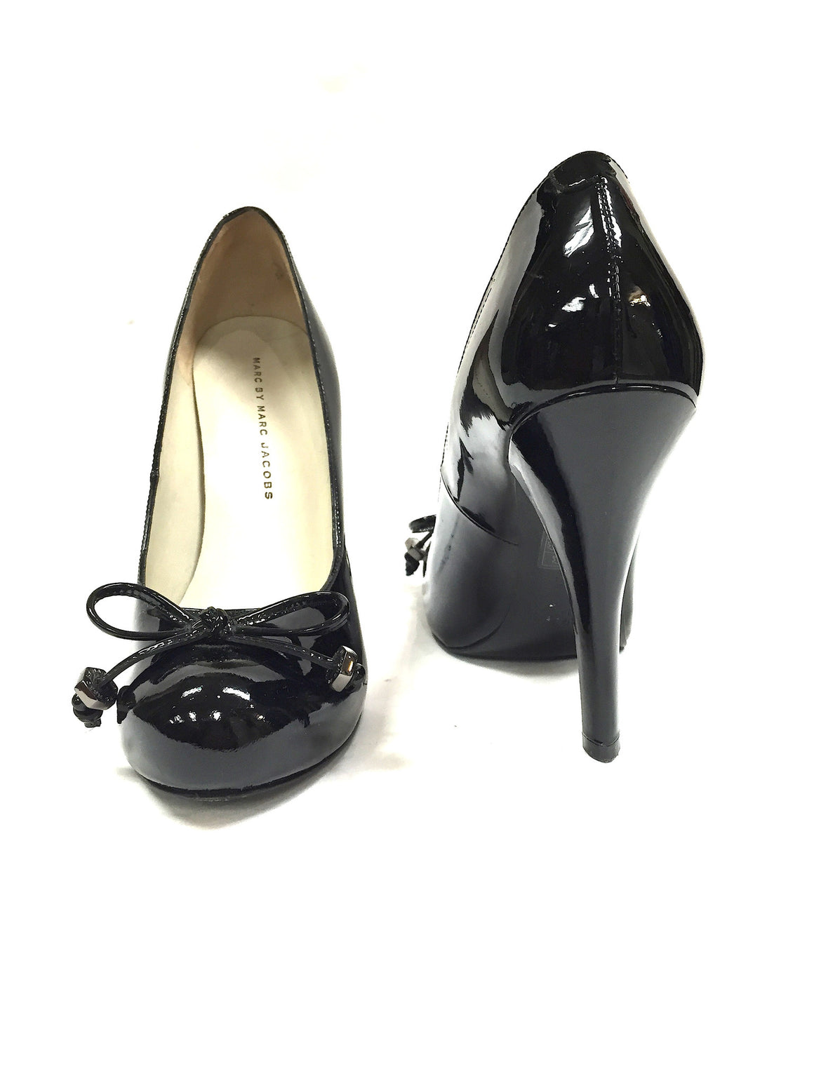 bisbiz.com MARC by MARC JACOBS   Black Patent Leather Platform Ballet  Heel Pumps  Size: 37.5/7.5 - Bis Luxury Resale
