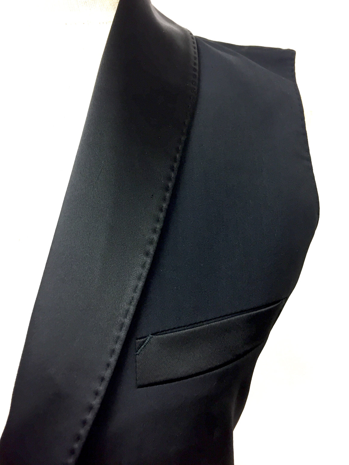 JEAN PAUL GAULTIER - Femme New with Tags Black Wool Sleeveless Tuxedo Jacket / Vest  Size: IT 42 / US 6