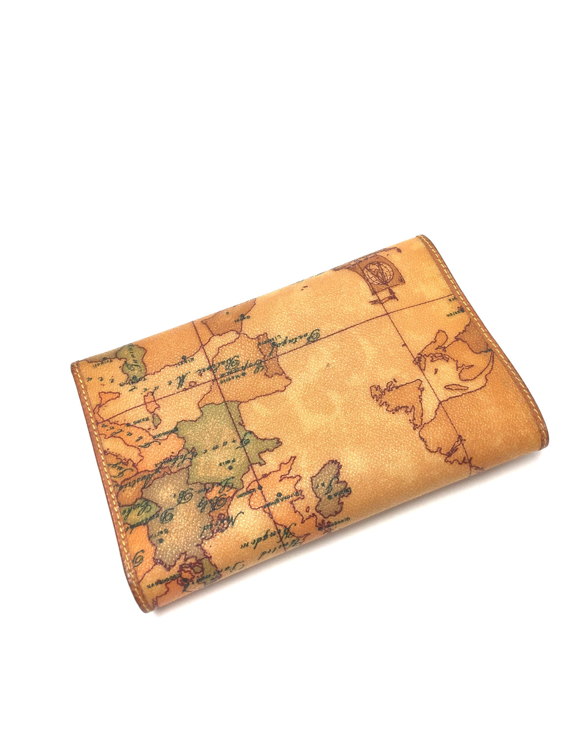 ALVIERO MARTINI - 1a CLASSE New Amber/Multi-color Laminated Canvas Tri-Fold Wallet