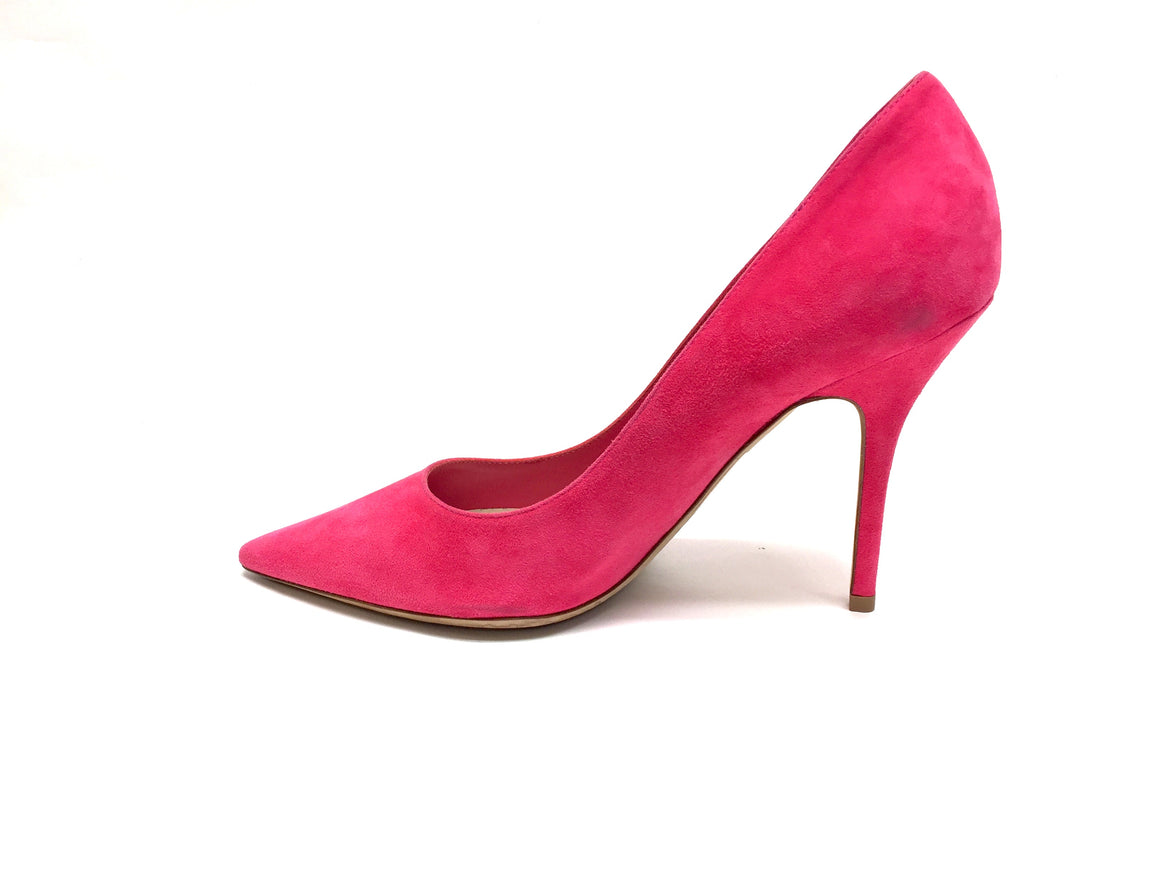 bisbiz.com CHRISTIAN DIOR   Bubblegum-Pink Suede Pointed-Toe Stiletto-Heel Pumps  Size 38.5 / 8.5 - Bis Luxury Resale