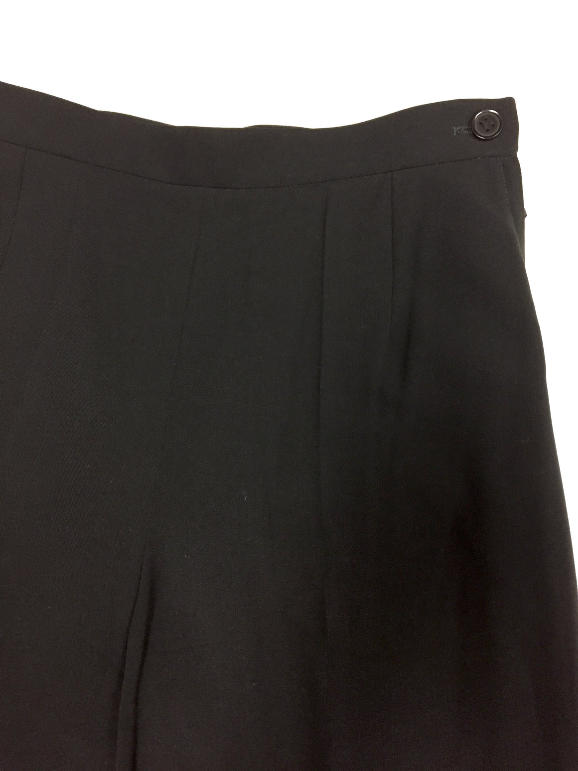 HERMES Black Wool-Blend Gabardine Straight-Leg Classic Dress Pants Size: FR 38 / US 6